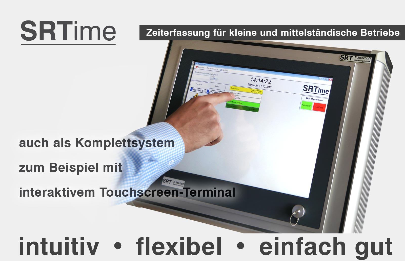 SRTime, Die intuitive Zeiterfassung für klein- und Mitteständische Betriebe. Zeiterfassung, Projektverwaltung, Nachkalkulation,  Fahrzeugverwaltung, Individuelle Programmanpassung,  Zeiterfassung über PC- Export zu Excel